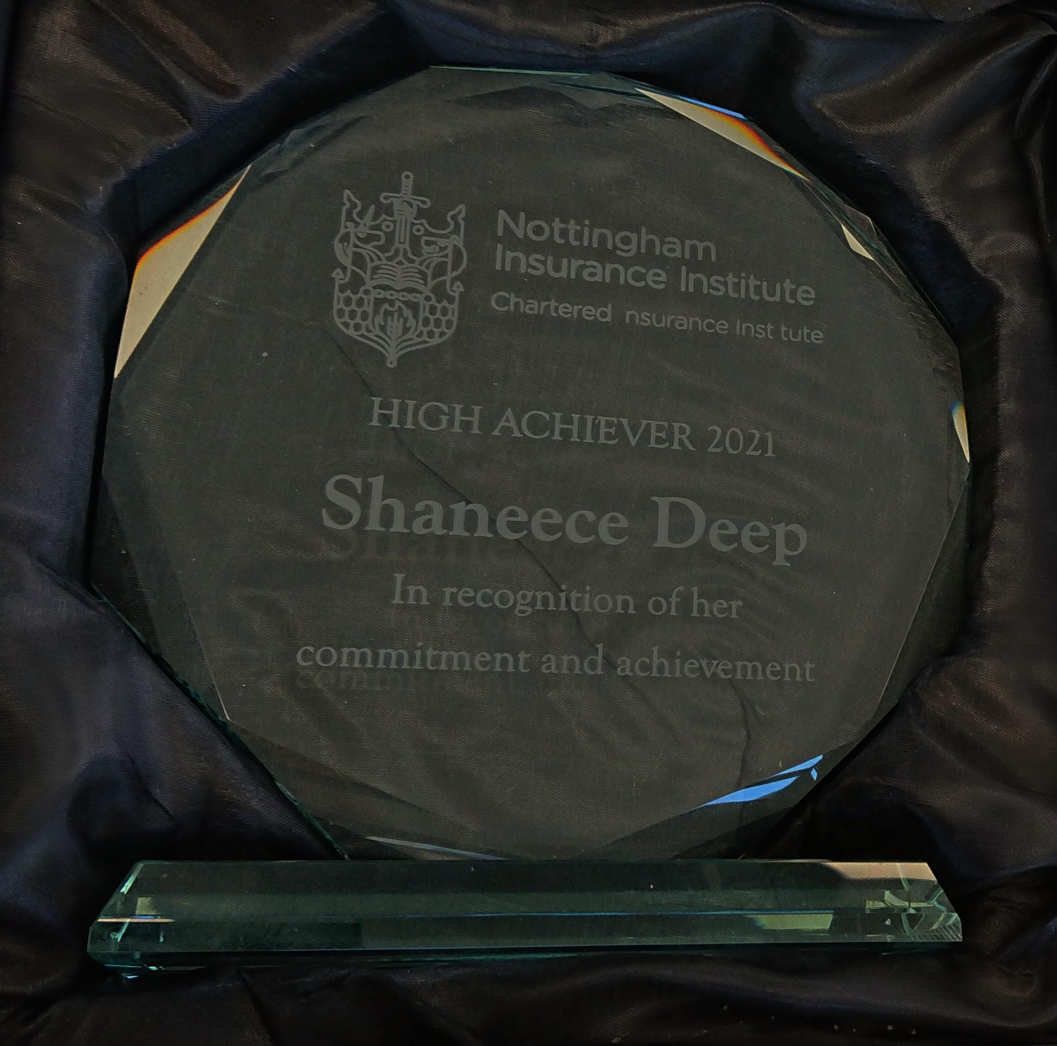 Congratulations, Shaneece!